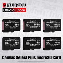 Kingston-Micro SD karta pamięci klasy 10 128GB 32GB 64GB 256GB 16 G sD TF Flash 8G 512 G Mikro SD do telefonów tanie tanio Telefon komórkowy Wysoka prędkość odczytu i zapisu NOTES Camera Głośniki Robot Do przechowywania plików inne Digital Devices
