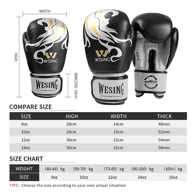 Bear PRO Boxing Gloves Sparring Punch Bag Mitts Muay Thai Kick Training 14oz