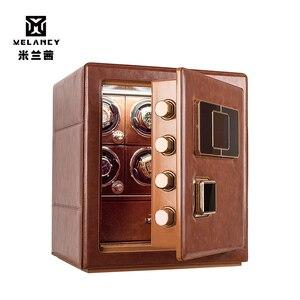 Reloj de gama alta con 6 ranuras, devanadera, caja de seguridad, automático, mecánico, ver caso devanadera, agitador de Motor