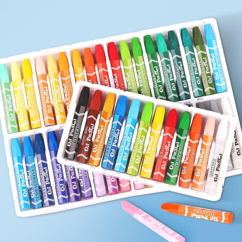 12/18/24/36 crianças jovens arte pastel óleo pastel multi-cor pintura caneta bebê pincel criativo presente para a temporada de escola