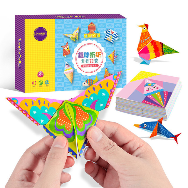 152Pcs/set DIY Educational Origami Paper Cutting Book Crafts Children Handmade Toys Kindergarten Fun Puzzle Baby Kids Toy Gifts 1
