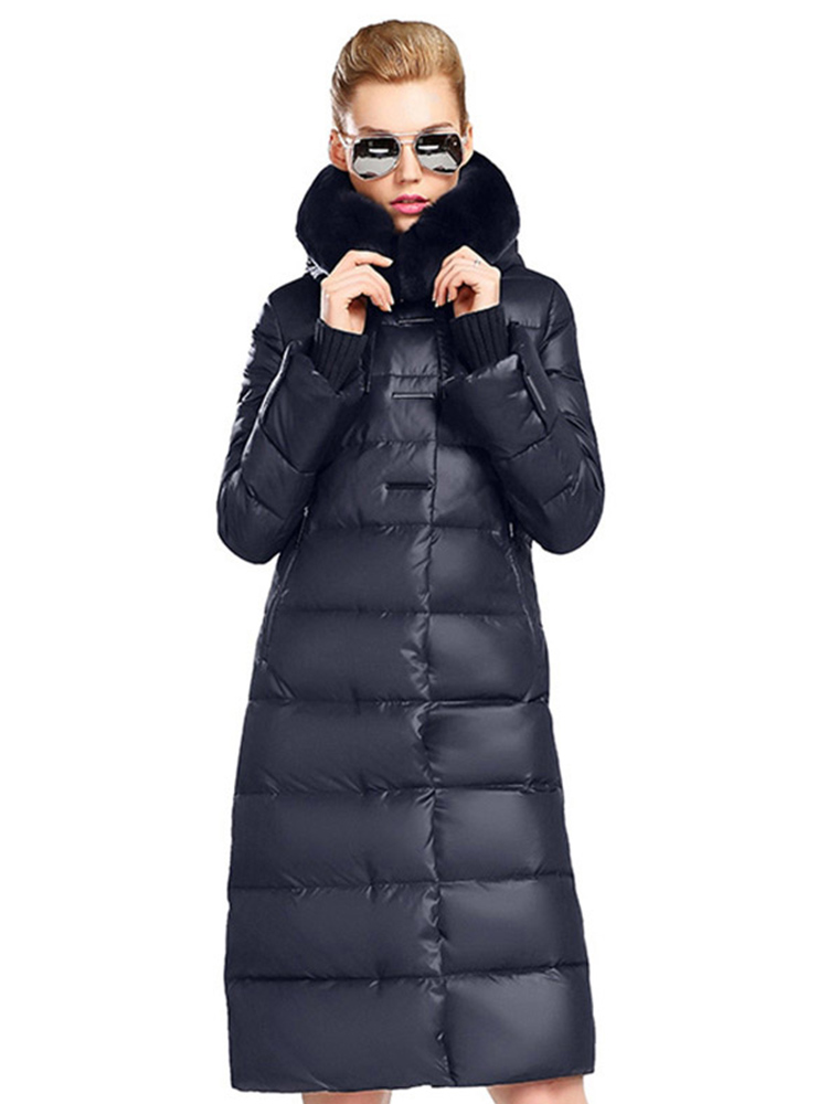 MIEGOFCE 2020 Women's Coat Jacket Medium Length Women Parka With a Rabbit Fur Winter Thick Coat Women New Winter Collection Hot