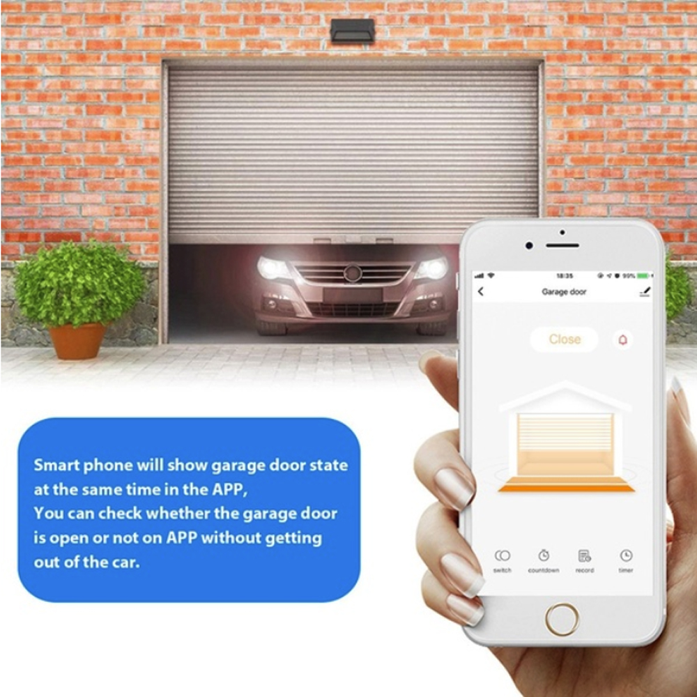 Garage Door WIFI Remote Control Opener Timing Schedules Support Android IOS Intelligent Voice Control