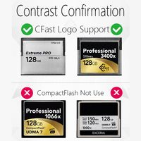 card reader CFast Card Reader USB3.1 Dual Port USB-A USB-C Portable GEN2 10Gbps CFast Reader (4)