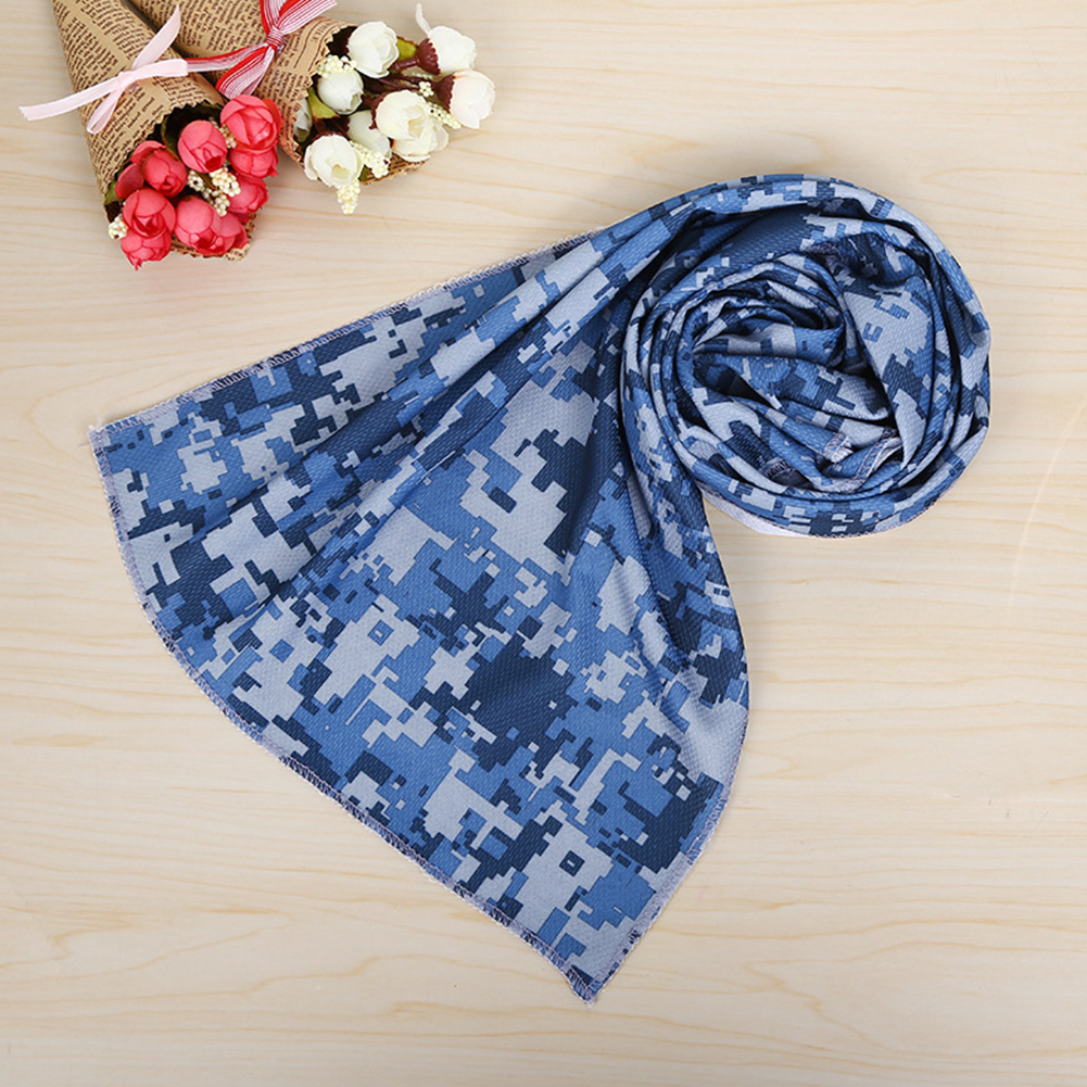 Sweat Absorb Summer Outdoor Activities Washable Portable Camo Cooling Breathable Printing Lightweight Sport Towels