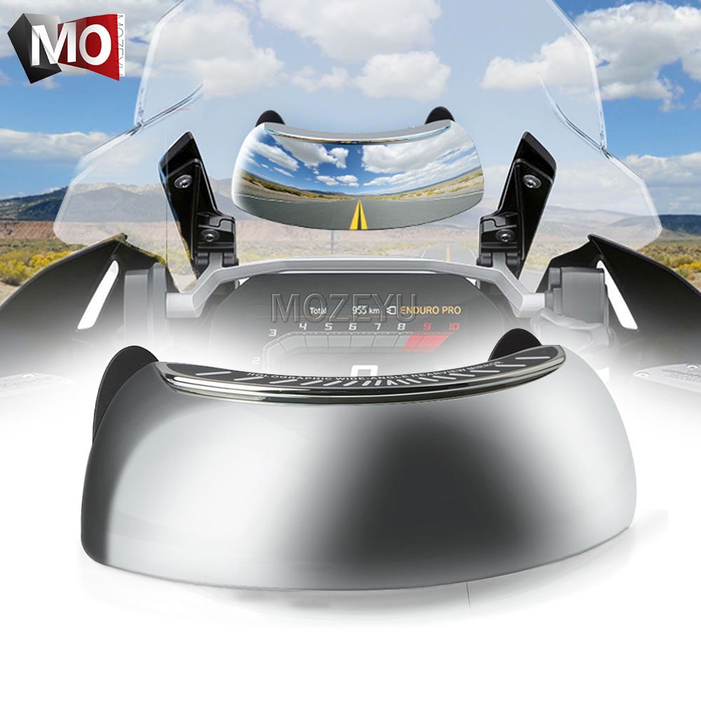 Motorcycle 180 Degree Safety Rearview Mirror Give Full Rear View For <font><b>Bajaj</b></font> Dominar 400 Pulsar 150 180 <font><b>200</b></font> <font><b>NS</b></font> RS AS CFMOTO 650NK image