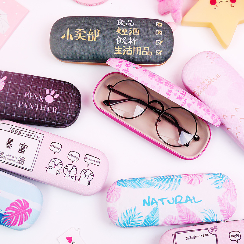 Unisex Fruit Pattern Anti-pressure Glasses Case For Student Cute Sunglasses Box