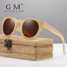GM Design Women Bamboo Sunglasses With Polarized Mirror Lenses Of Wood Wooden Box