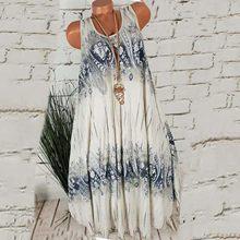 Vintage gótico vestidos femininos plus size verão sem mangas vestido de verão o pescoço casual criativo vestido de impressão vestidos longos de verao