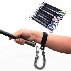 1PC taktyczne chowany wiosna elastyczna lina bezpieczeństwa narzędzie do przekładni Anti lost brelok do telefonu przenośne smycze wędkarskie narzędzia zewnętrzne w Narzędzia wędkarskie od Sport i rozrywka na