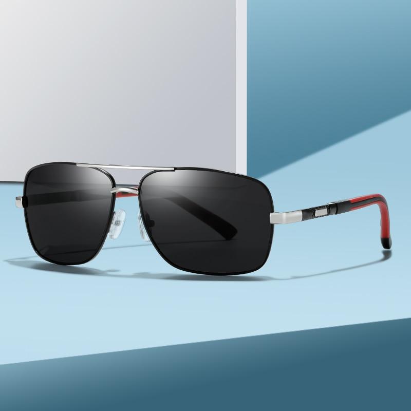 2020 Mens Polarized Sunglasses for Sports Outdoor Driving Polaroid Sunglasses Men Square Metal Frame Sun Glasses Gafas De Sol