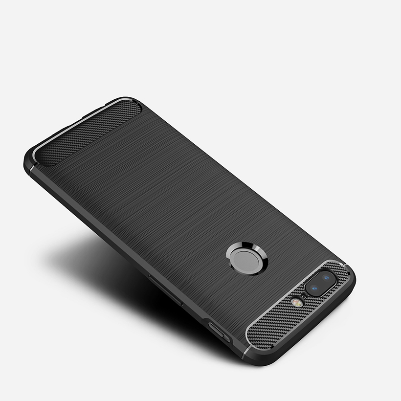 Carbon Fiber Cases For <font><b>Oneplus</b></font> <font><b>5</b></font> 7T Case Ultra Thin Slim Back Cover For <font><b>Oneplus</b></font> 5T 6 6T 7 7T Pro Covers OP5T One Plus 5t Shell image