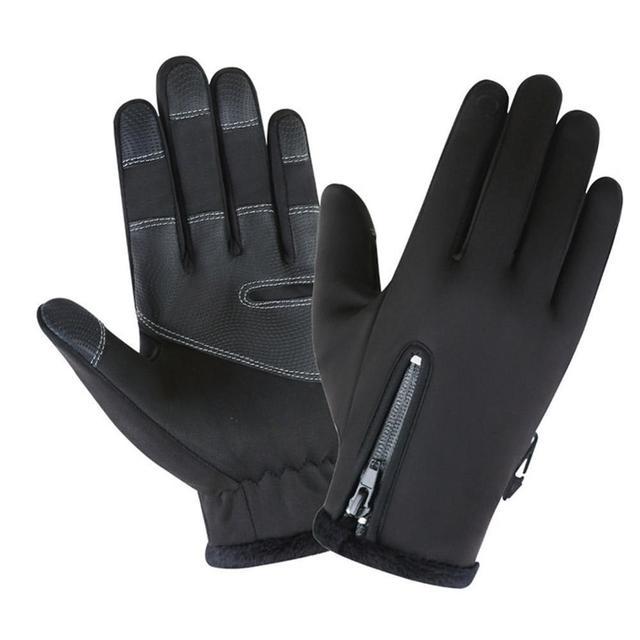 Фото перчатки для мотокросса флисовые ветрозащитные и теплые сенсорные цена