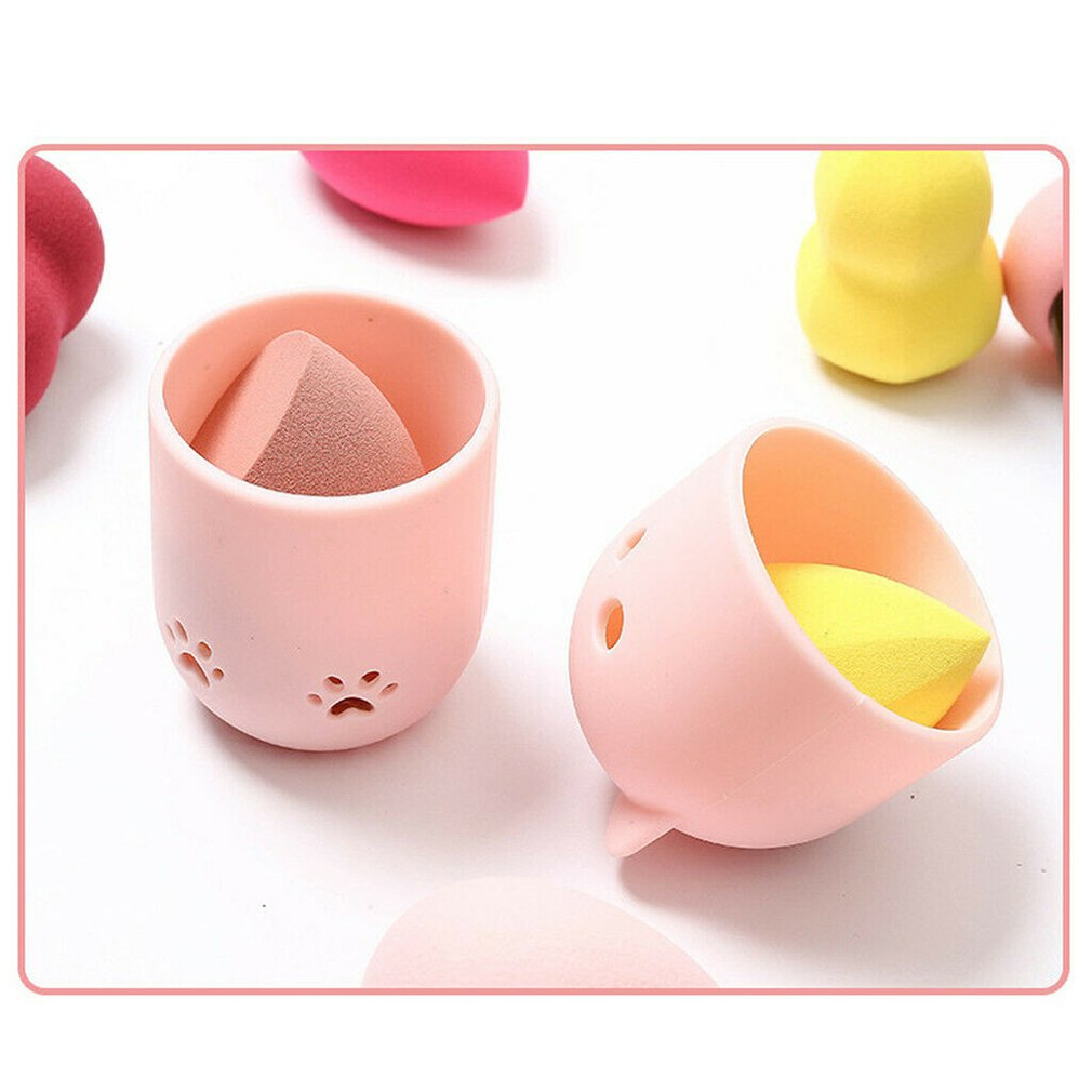 Beauty Sponge Travel Case Practical Beauty Sponge Holder Hollow Design Moisture-Proof And Breathable Makeup Sponge Holder