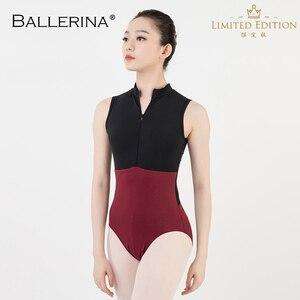 Image 1 - ballet dance Practice black mesh leotard women gymnastics Turtleneck Sleeveless Leotard Ballerina 5681