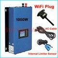Новый обновленный 1000 Вт сетевой инвертор с wifi штепсельной вилкой MPPT солнечной энергии 1 кВт инвертор + датчик ограничителя напряжения 24 В 48 В...