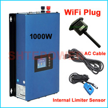 ปรับปรุงใหม่ 1000W Grid Tie อินเวอร์เตอร์ WIFI ปลั๊ก MPPT พลังงานแสงอาทิตย์ 1KW อินเวอร์เตอร์ + Inter Limiter SENSOR 24 V 48 V DC AC 220V 230V