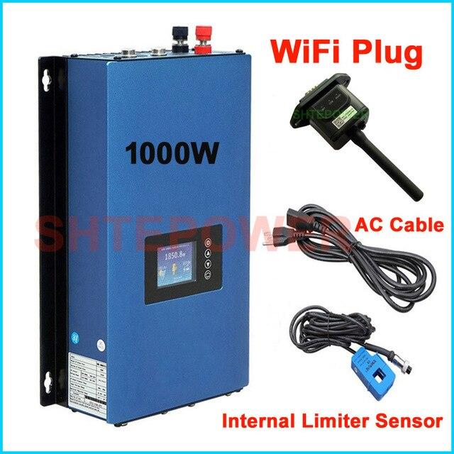 Nieuwe Bijgewerkte 1000W Grid Tie Inverter Met Wifi Plug Mppt Zonne energie 1KW Inverter + Inter Limiter Sensor 24 V 48 V Dc Ac 220V 230V