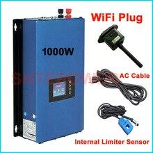 Novo atualizado 1000 w grid tie inversor com wifi plug mppt energia solar 1kw inversor + inter limitador sensor 24v 48v dc ac 220 v 230 v