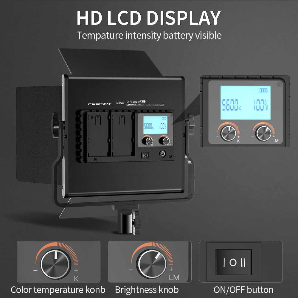Travor 2 conjunto led luz de vídeo kit l4500k pode ser escurecido câmera luz prefessional led luz vídeo para estúdio fotograpy maquiagem ao vivo