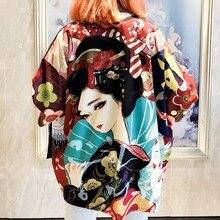 Kimono Women Yukata Haori Japanese Kimono Cardigan Yukata Female Japanese Streetwear Clothes Soft Girl Aesthetic Clothes FF2018