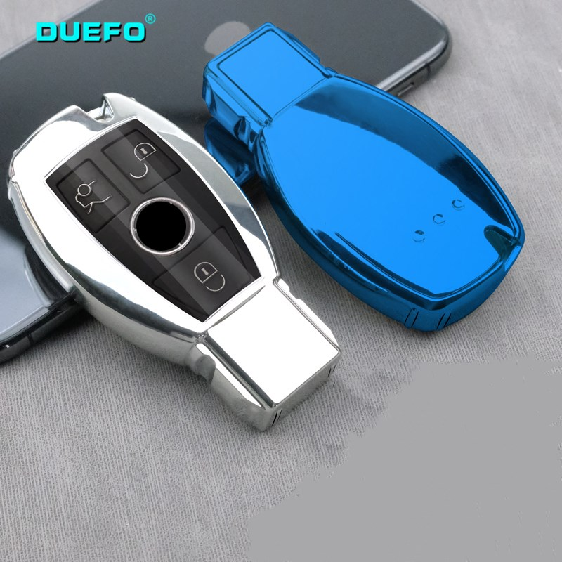 NEW Full Cover New Soft TPU Car Key Case Shell For Mercedes Benz E C Class W204 W212 W176 GLC CLA GLA CarStyling Accessories image