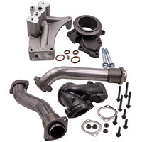 Turbo Pedestal + Exhaust Housing Up Pipe Kit for Ford F Series Trucks 7.3L D