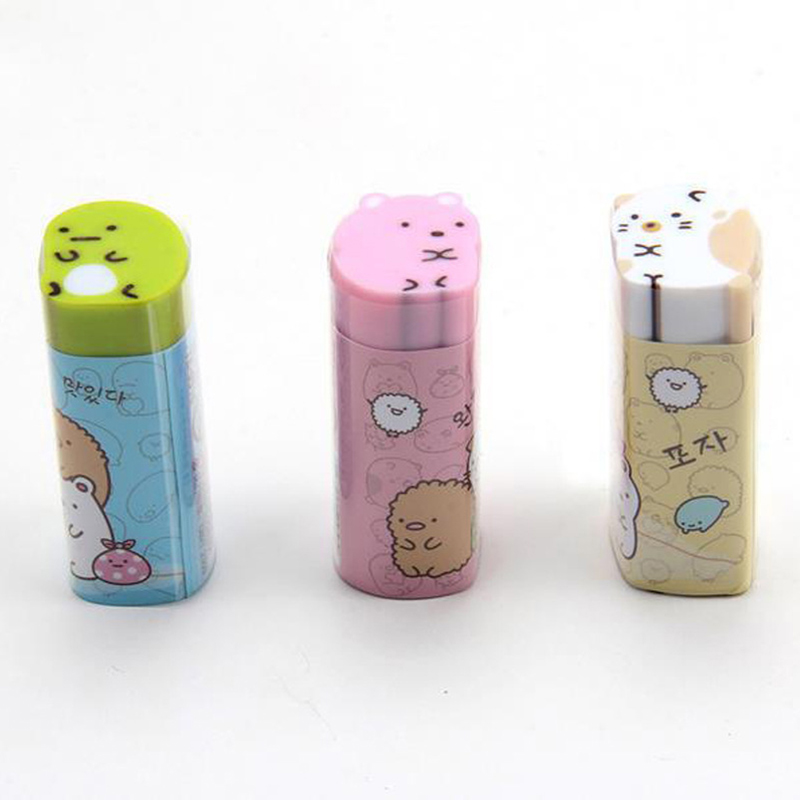 1Pc Cute Sumikko Rubber Erasers Creative Cat Erasers Kawaii Pencil Erasers For Kids School Office Supplies Stationery