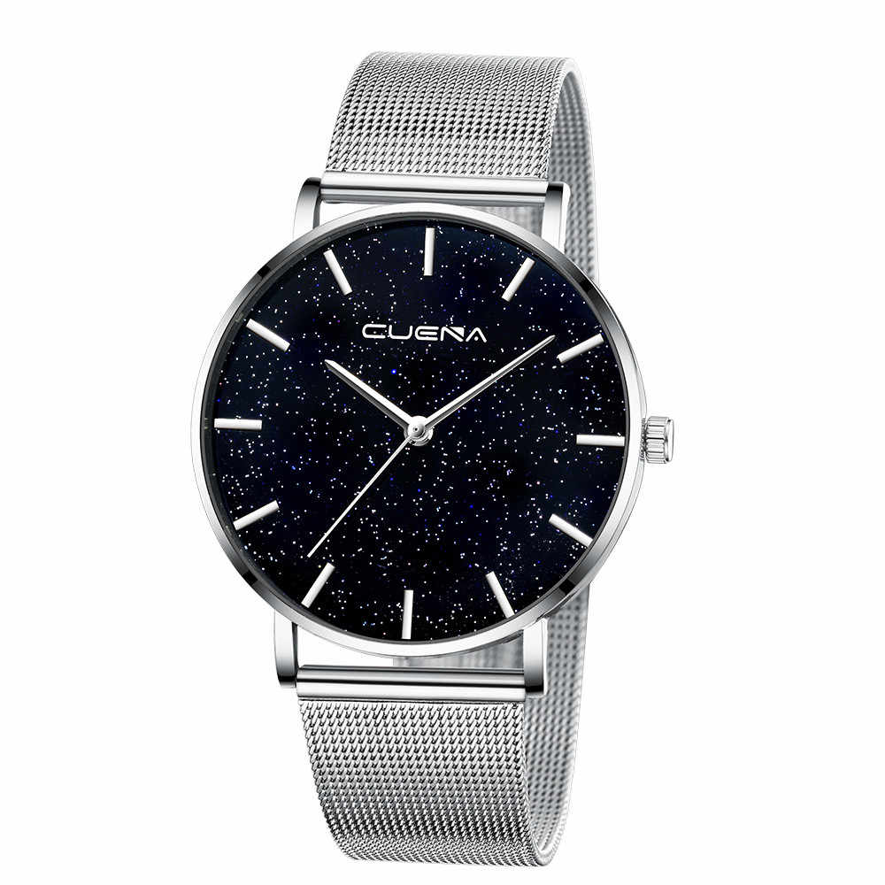 Montre femme ciel étoilé diamant cadran femmes Bracelet montres en acier inoxydable marque de luxe Quartz maille boucle magnétique montre-Bracelet femme