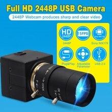 Câmera de vídeo indurstrial do usb da lente varifocal de alta resolução de sony imx179 5 50mm do cctv da vigilância da webcam de 8mp usb para o computador do pc