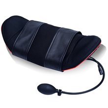 Airbag adjustment lifting whole body kneading electric multi-function lumbar massage pillow with heat