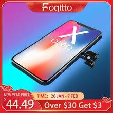 FOQITTO OLED dla iphone X XR XS Max wymiana ekranu LCD dla iPhone 11 Pro wyświetlacz z obsługą 3D Touch True Tone