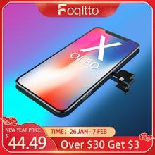 FOQITTO OLED for iphone X XR XS 3D 터치 지원 iPhone 11 Pro 디스플레이 용 최대 LCD 화면 교체 True Tone