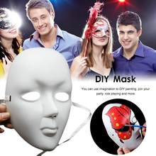 Halloween Masker Vol Gezicht handgeschilderde Masker Cosplay Props Wit voor Halloween Party Cosplay Billy Jigsaw Saw Puppet Masker(China)