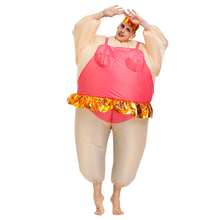 Adult Inflatable Ballerina Costumes Funny Fancy Dresses  Adult Chub Suit Halloween Costume for Women Men