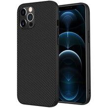 Koolstofvezel Voor Iphone 12 Pro Max Case, nillkin Synthetische Vezels Pp Shield Cover Case Voor Apple Iphone 12 2020 Innerlijke Ijzer