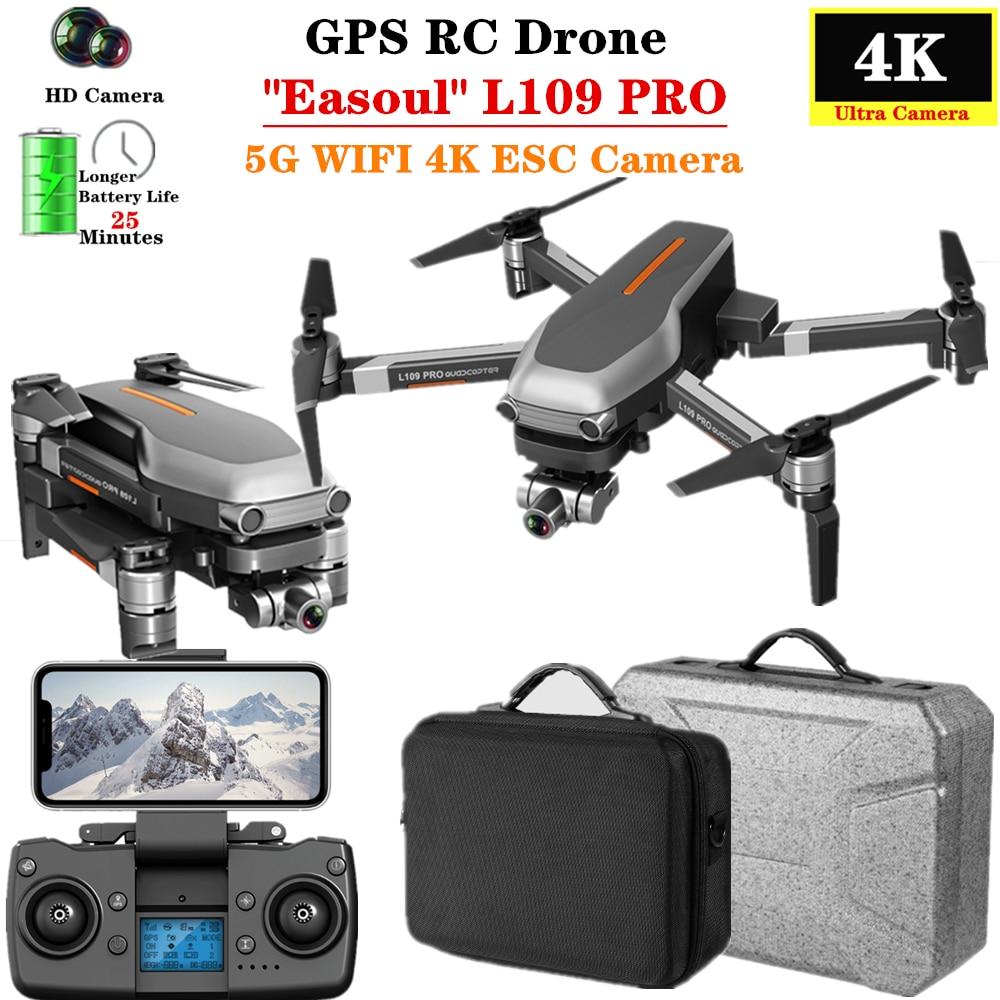 RC Drone L109PRO GPS 5G WiFi FPV 4K HD Camera Pro Selfie Quadcopter 1.2km Control Distance Flight 25mins VS F11 SG906 Dron Toy