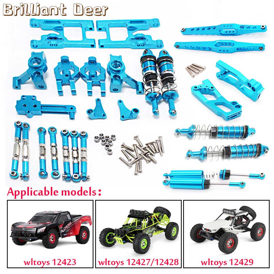 4x Gummireifen mit Metallreifen für WLtoys 12428 1//12 RC Buggy Parts