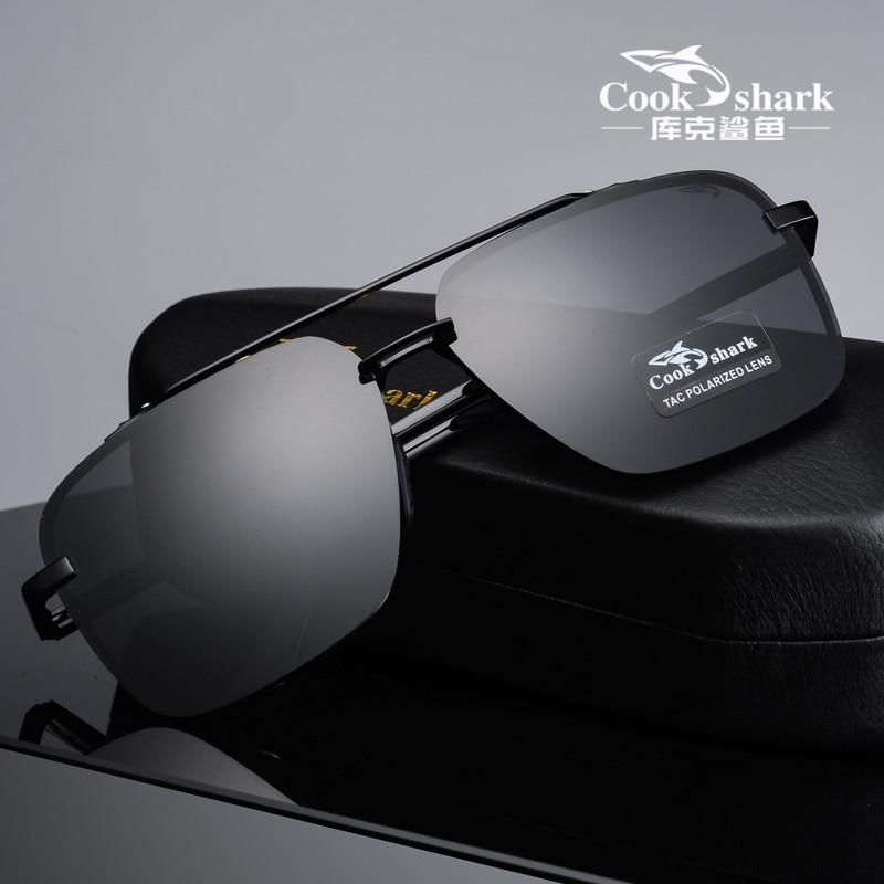 Cook Shark 2020 Новые поляризованные солнцезащитные очки, хипстерские солнцезащитные очки для вождения, очки для вождения|Мужские солнцезащитные очки|   | АлиЭкспресс