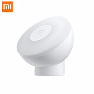 Image 2 - 2020New Xiaomi Mijia MJYD02YL Nachtlampje 2 Generatie Verstelbare Helderheid Infrarood Smart Menselijk Lichaam Sensor Met Magnetische Voet