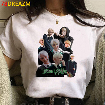 Hot Cartoon Draco Malfoy T Shirt Women Kawaii Hip Hop Summer Tops Anime Graphic Tees Funny Unisex Harajuku Grunge Tshirt Female 1
