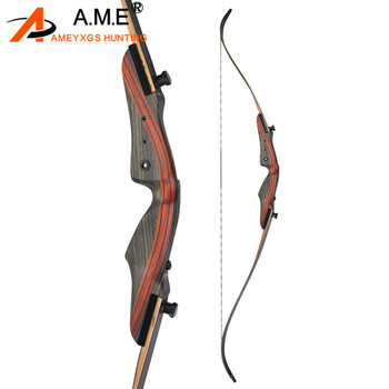 Archery 62inch  Recurve 62inch Bow Traditional Longbow Takedown Right Hand Shooting 25-50lbs Hunting Accessories