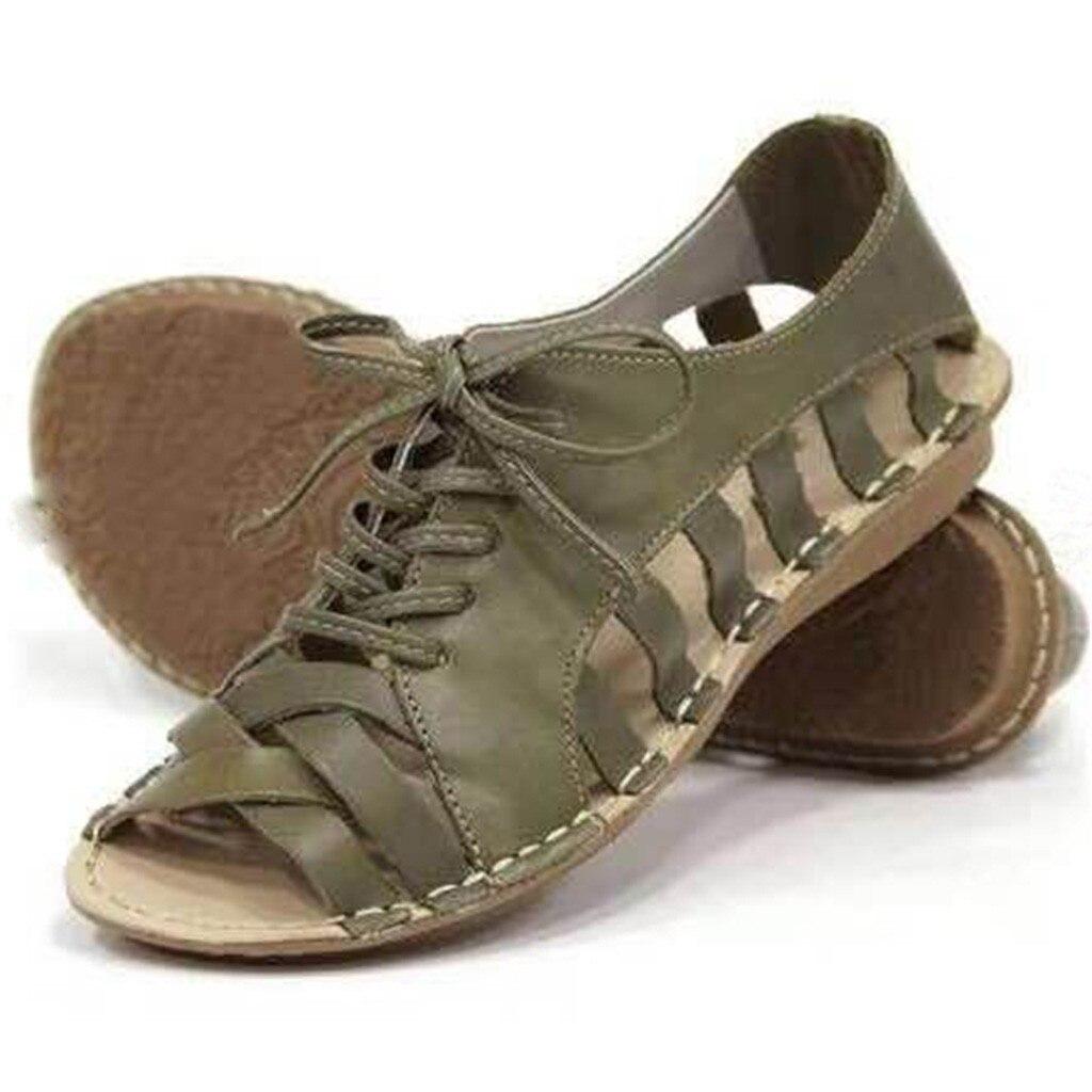 SAGACE обувь; женская обувь на плоской подошве; коллекция 2019 года; Летние босоножки; Высококачественная женская повседневная обувь на шнуровке с открытым носком; Zapatos; Прямая поставка; May21|Боссоножки и сандалии|   | АлиЭкспресс