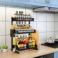 Edelstahl küche werkzeuge regal gewürz rack multi schicht gewürz lagerung rack küche zubehör veranstalter-in Regale und Halter aus Heim und Garten bei