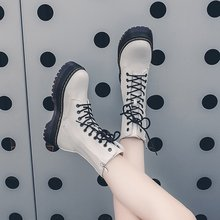 Fashion Zipper Flat Shoes Woman High Heel Platform PU Leather Boots Lace Up Women Shoes White Military Botas Mujer Girls motorcycle exhaust pipe muffler inlet 51mm carbon fiber exhaust pipe motorcycle escape for suzuki gw250 kawasaki z750 z800 r6