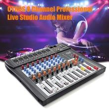 Профессиональный 8-канальный микшерный пульт записи 48 В Phantom power Monitor 8 каналов аудио микшер с USB для караоке Вечерние
