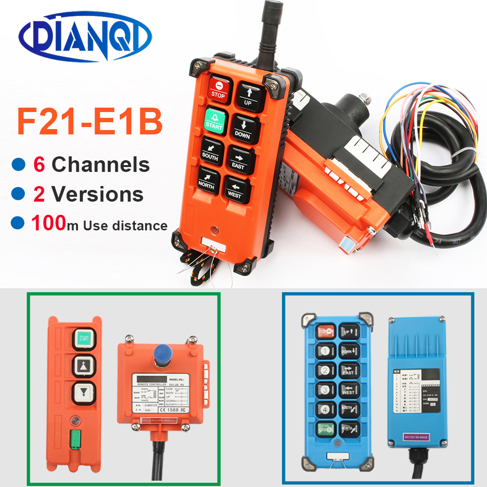 F21-E1B F21-2S AC 220V 110V 380V 36V DC 12V 24V Wireless Industrial Remote Controller Switches Hoist Crane Control Lift Crane