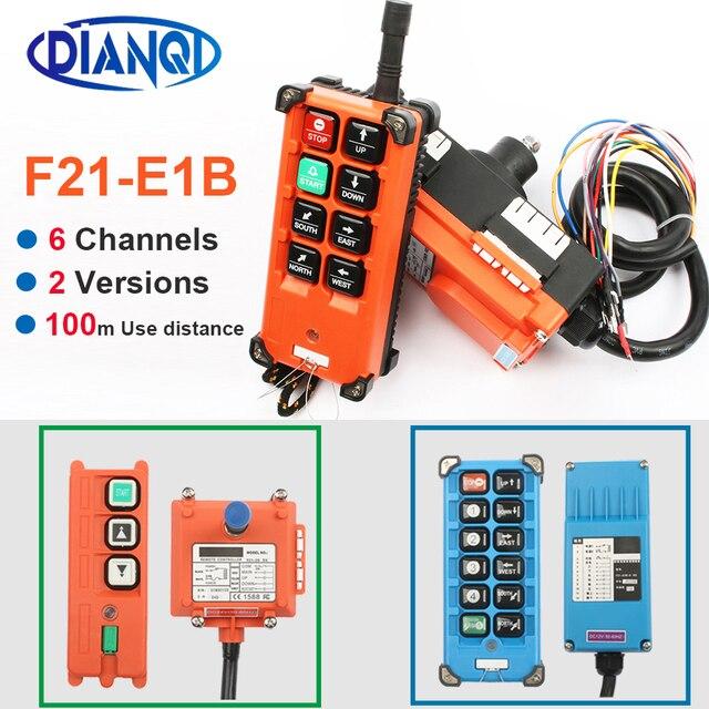 F21 E1B F21 2S AC 220V 110V 380V 36V DC 12V 24V wireless Industrial remote controller switches Hoist Crane Control Lift Crane