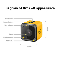 Caddx Orca 4K HD Recording Mini FPV Camera FOV 160 Degree WiFi Anti Shake DVR Action Sport Camera for Outdoor RC Racing Drone