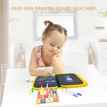 Baby Drawing Toys Painting Blackboard Brush With Water Chalk Reusable Cloth Drawing Painting Coloring Book with Pen for Children 1